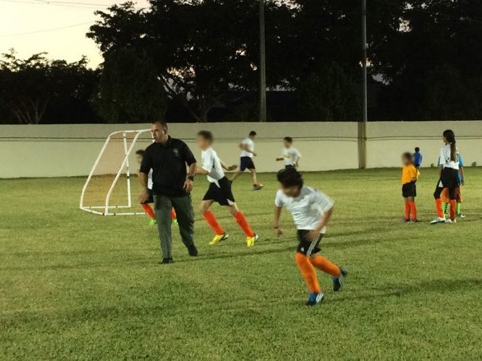 Manny Saavedra soccer practice coach