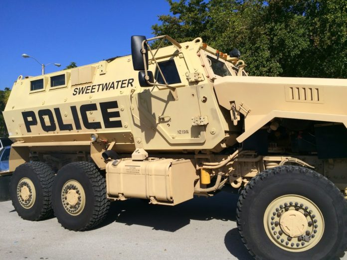 Sweetwater police mrap vehicle 2014