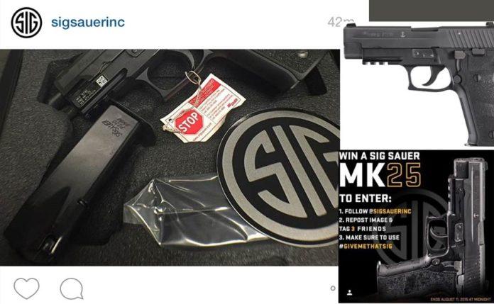 9mm sig sauer mk25 giveaway instagram