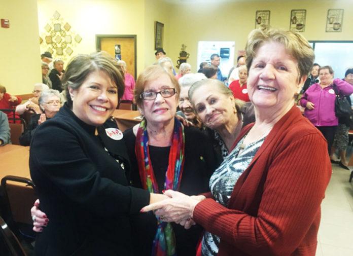columba bush visits sweetwater senior center in january 2016